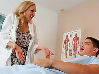 Sexy as hell cutie Julia Ann is a horny doctor that want to be impaled in her sweet accurate pussy