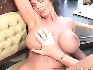 Horny milf  fucks with hubby in the office