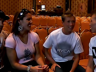 Behind the scenes action with Dylan Ryder and friends as they prepare to watch a fight.