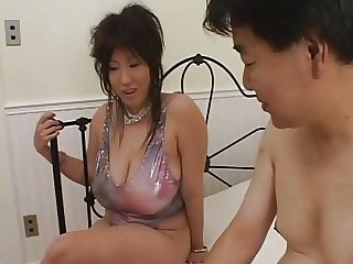 Seri Ishiguro breaks eggs with her huge boobs
