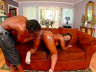 Magnificent oily pussy drilling with Nathan Threat and Shay