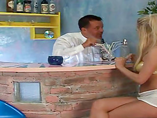 One look at the drop dead, sexy blonde teen, Carla Cox as she sits at the bar