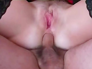 Hot mature enjoying a wild cock ride with anal creampie
