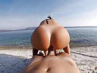 Anal sex on the beach.