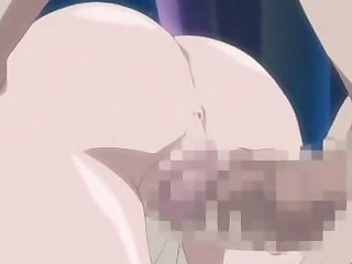 Anime gets stuffed by a big tentacle monster