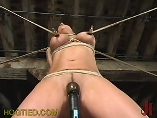 Extreme Rope Torture for a Cute Babe's Tits