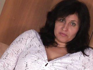 Housewife Marietta gets nasty in her kitchen